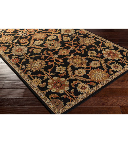 41ELIZABETH 48764-B Arlo 72 X 48 inch Black/Rust/Olive/Camel/Tan/Sage Rugs, Rectangle awmd2073_corner.jpg