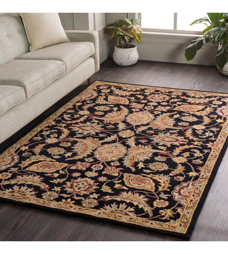 41ELIZABETH 48779-BG Arlo 72 X 48 inch Black/Camel/Khaki/Medium Gray/Olive/Burgundy Rugs, Rectangle awmd2078-roomscene_201.jpg