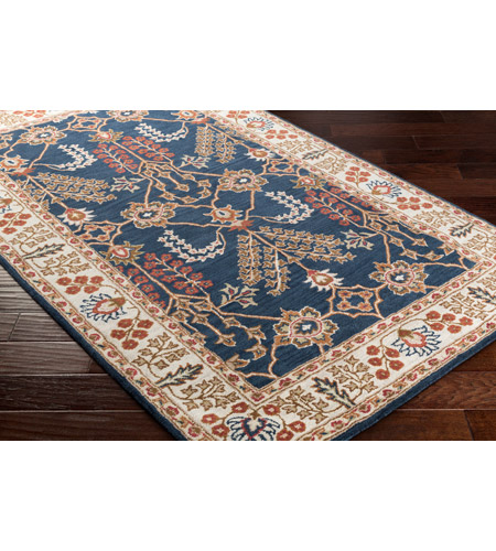 41ELIZABETH 48791-NB Arlo 156 X 108 inch Navy/Ivory/Camel/Dark Brown/Garnet Rugs, Rectangle awmd2241_corner.jpg