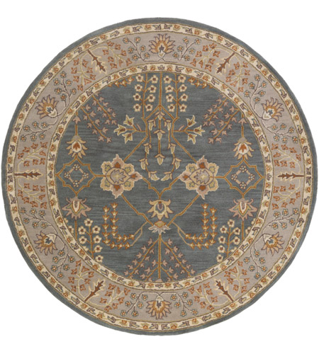 41ELIZABETH 48794-TG Arlo 72 X 72 inch Teal/Taupe/Cream/Olive/Camel/Charcoal/Dark Green Rugs, Round
