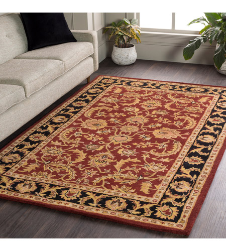 41ELIZABETH 48816-DB Arlo 156 X 108 inch Dark Brown/Mustard/Black/Clay Rugs, Rectangle awoc2001-roomscene_201.jpg
