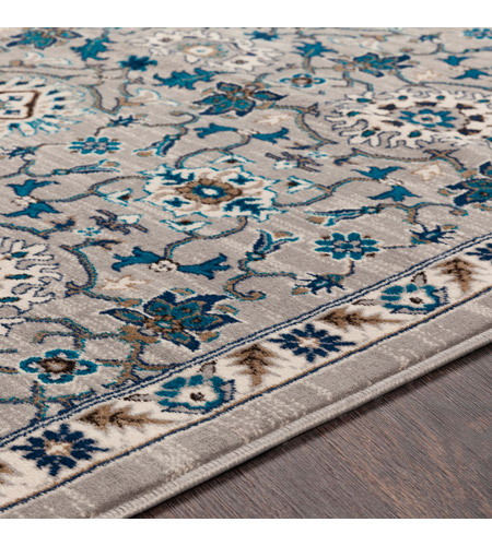 41ELIZABETH 50915-MG Amanda 67 X 47 inch Medium Gray/Sky Blue/Navy/Camel/Dark Brown/Ivory Rugs, Rectangle cmt2302-texture.jpg