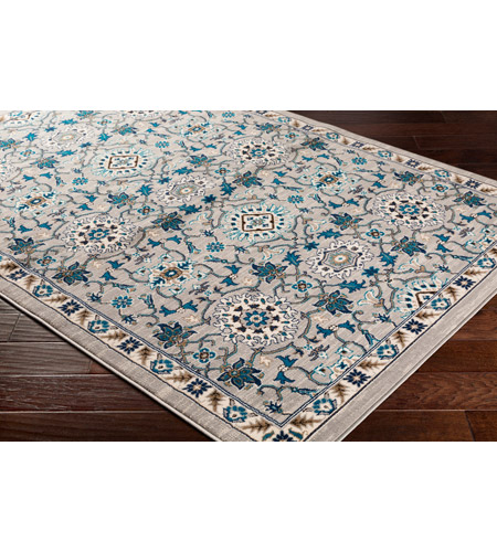 41ELIZABETH 50915-MG Amanda 67 X 47 inch Medium Gray/Sky Blue/Navy/Camel/Dark Brown/Ivory Rugs, Rectangle cmt2302_corner.jpg