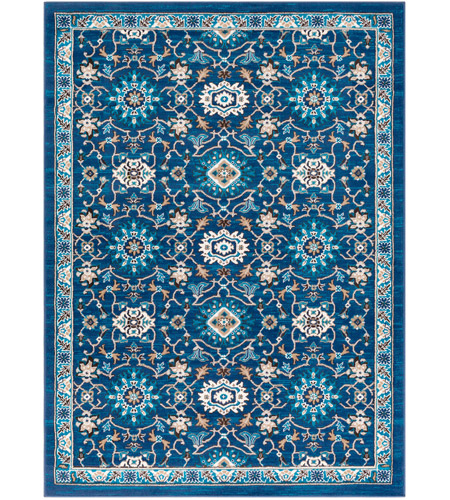 41ELIZABETH 50920-NB Amanda 67 X 47 inch Navy/Sky Blue/Camel/Dark Brown/Medium Gray/Ivory Rugs, Rectangle