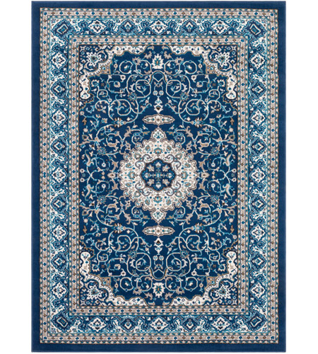 41ELIZABETH 50936-NB Amanda 87 X 63 inch Navy/Sky Blue/Dark Brown/Camel/Medium Gray/Ivory Rugs, Rectangle