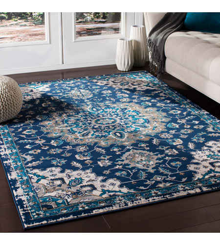41ELIZABETH 50949-NB Amanda 35 X 24 inch Navy/Sky Blue/Dark Brown/Camel/Medium Gray/Ivory Rugs, Rectangle cmt2314-roomscene_201.jpg