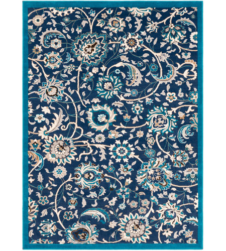 41ELIZABETH 50965-NB Amanda 67 X 47 inch Navy/Sky Blue/Camel/Medium Gray/Dark Brown/Ivory Rugs, Rectangle