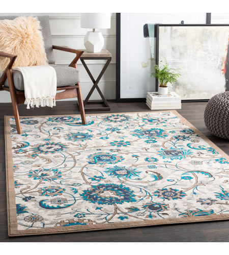 41ELIZABETH 50969-CB Amanda 35 X 24 inch Camel/Sky Blue/Dark Brown/Navy/Medium Gray/Ivory Rugs, Rectangle cmt2319-roomscene_201.jpg