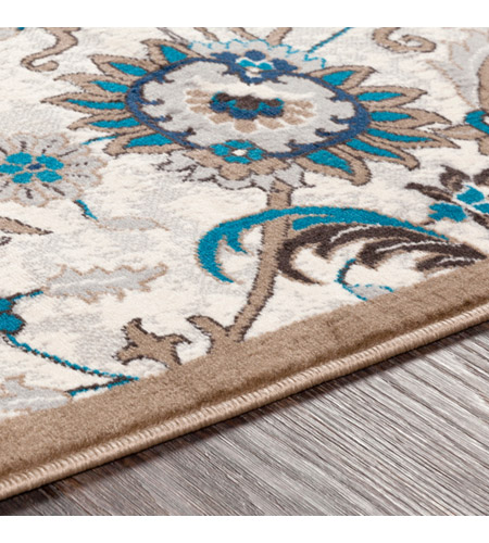 41ELIZABETH 50969-CB Amanda 35 X 24 inch Camel/Sky Blue/Dark Brown/Navy/Medium Gray/Ivory Rugs, Rectangle cmt2319-texture.jpg