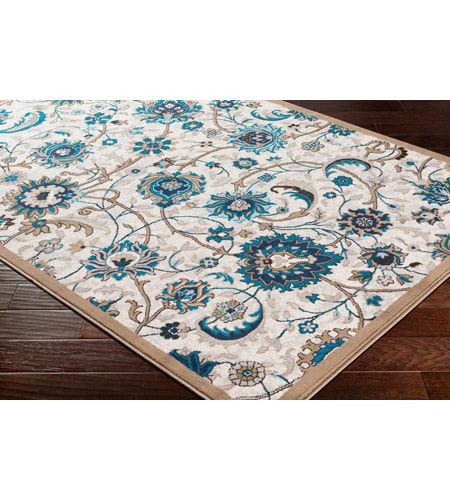 41ELIZABETH 50969-CB Amanda 35 X 24 inch Camel/Sky Blue/Dark Brown/Navy/Medium Gray/Ivory Rugs, Rectangle cmt2319_corner.jpg