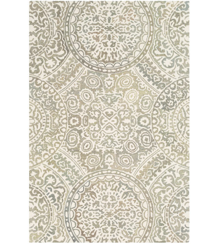 41ELIZABETH 51471-T Arcadicus 90 X 60 inch Taupe/Cream/Moss/Sage Rugs, Rectangle