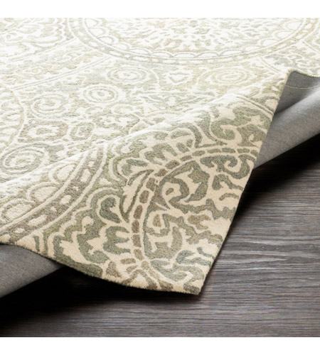 41ELIZABETH 51470-T Arcadicus 36 X 24 inch Taupe/Cream/Moss/Sage Rugs, Rectangle csi1005-fold.jpg