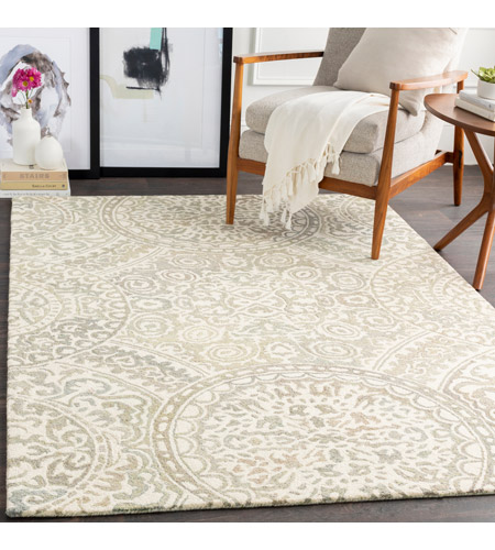 41ELIZABETH 51470-T Arcadicus 36 X 24 inch Taupe/Cream/Moss/Sage Rugs, Rectangle csi1005-roomscene_201.jpg