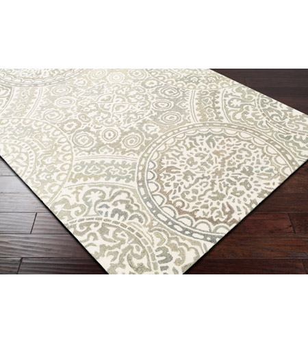 41ELIZABETH 51470-T Arcadicus 36 X 24 inch Taupe/Cream/Moss/Sage Rugs, Rectangle csi1005_corner.jpg