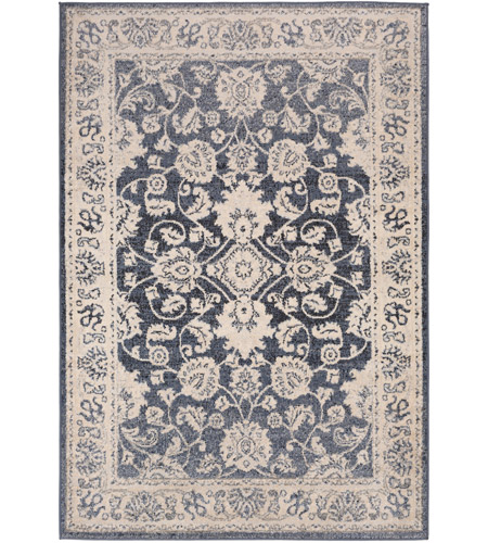 41ELIZABETH 51587-DG Aquamarine 87 X 63 inch Denim/Light Gray/Wheat/Charcoal/Black/Cream Rugs