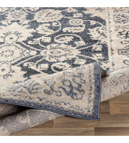41ELIZABETH 51587-DG Aquamarine 87 X 63 inch Denim/Light Gray/Wheat/Charcoal/Black/Cream Rugs cyl2306-fold.jpg