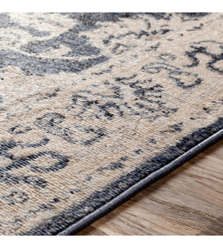41ELIZABETH 51587-DG Aquamarine 87 X 63 inch Denim/Light Gray/Wheat/Charcoal/Black/Cream Rugs cyl2306-texture.jpg