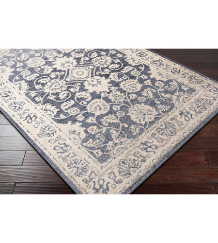 41ELIZABETH 51587-DG Aquamarine 87 X 63 inch Denim/Light Gray/Wheat/Charcoal/Black/Cream Rugs cyl2306_corner.jpg