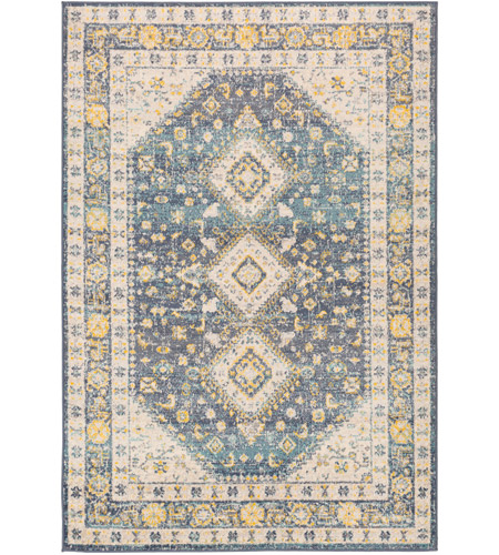 41ELIZABETH 51620-DG Aquamarine 87 X 63 inch Denim/Saffron/Cream/Wheat/Aqua/Light Gray/Charcoal Rugs