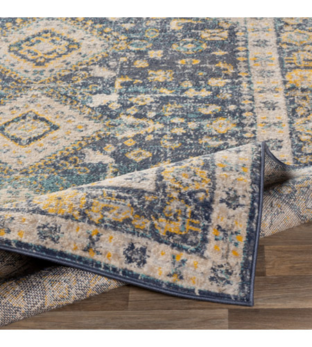 41ELIZABETH 51620-DG Aquamarine 87 X 63 inch Denim/Saffron/Cream/Wheat/Aqua/Light Gray/Charcoal Rugs cyl2322-fold.jpg