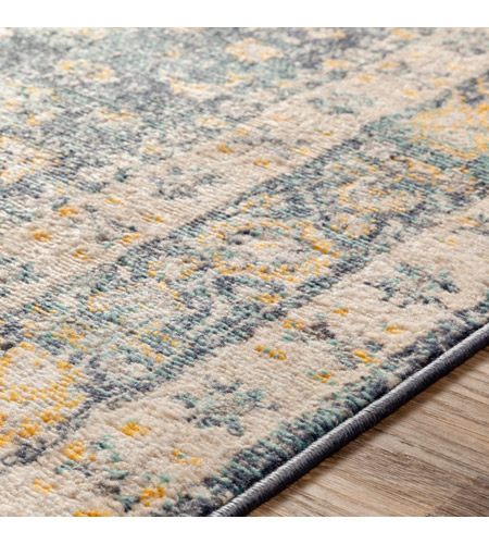 41ELIZABETH 51620-DG Aquamarine 87 X 63 inch Denim/Saffron/Cream/Wheat/Aqua/Light Gray/Charcoal Rugs cyl2322-texture.jpg