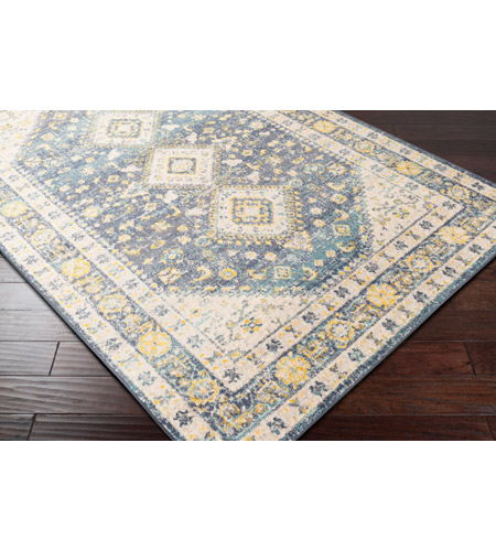 41ELIZABETH 51620-DG Aquamarine 87 X 63 inch Denim/Saffron/Cream/Wheat/Aqua/Light Gray/Charcoal Rugs cyl2322_corner.jpg