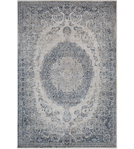 41ELIZABETH 42344-GG Ademaro 114 X 79 inch Gray and Gray Area Rug, Polypropylene and Chenille