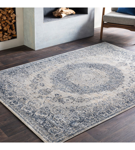 41ELIZABETH 42344-GG Ademaro 114 X 79 inch Gray and Gray Area Rug, Polypropylene and Chenille dur1008-roomscene_201.jpg