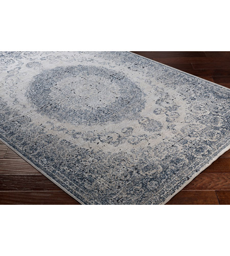 41ELIZABETH 42344-GG Ademaro 114 X 79 inch Gray and Gray Area Rug, Polypropylene and Chenille dur1008_corner.jpg