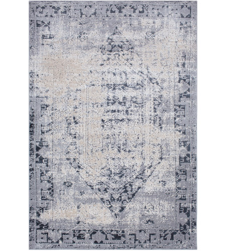 41ELIZABETH 51825-MG Ademaro 87 X 63 inch Medium Gray/Charcoal/Ink/Khaki/Beige Rugs, Polypropylene and Chenille