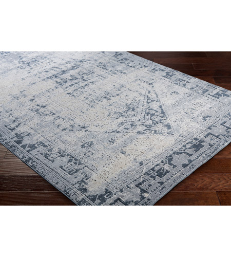 41ELIZABETH 51825-MG Ademaro 87 X 63 inch Medium Gray/Charcoal/Ink/Khaki/Beige Rugs, Polypropylene and Chenille dur1009_corner.jpg