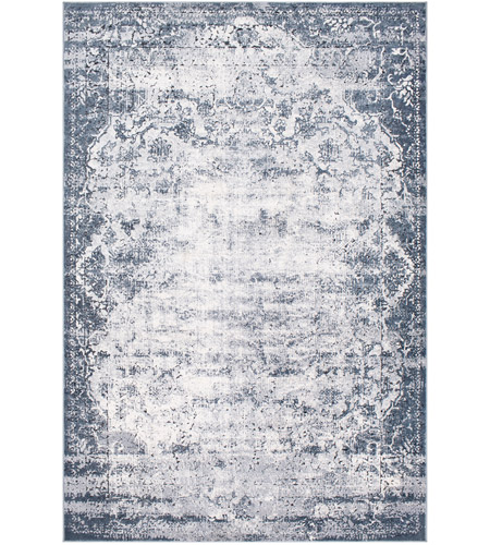41ELIZABETH 51835-MG Ademaro 87 X 63 inch Medium Gray/White/Charcoal/Black Rugs, Rectangle