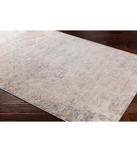 41ELIZABETH 51840-TG Ademaro 87 X 63 inch Taupe/White/Medium Gray Rugs, Rectangle dur1012_corner.jpg