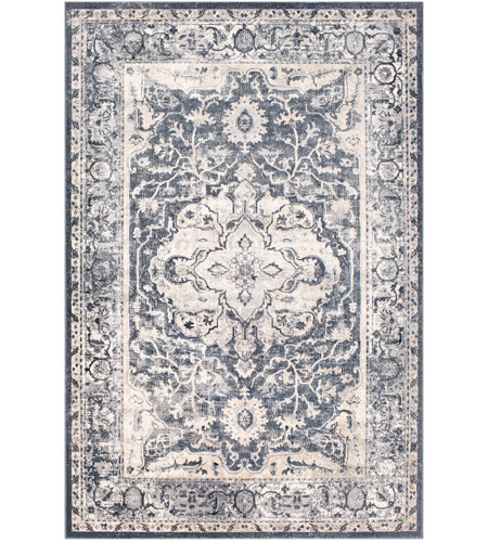 41ELIZABETH 51844-MG Ademaro 35 X 24 inch Medium Gray/Charcoal/Taupe/White/Black Rugs, Rectangle