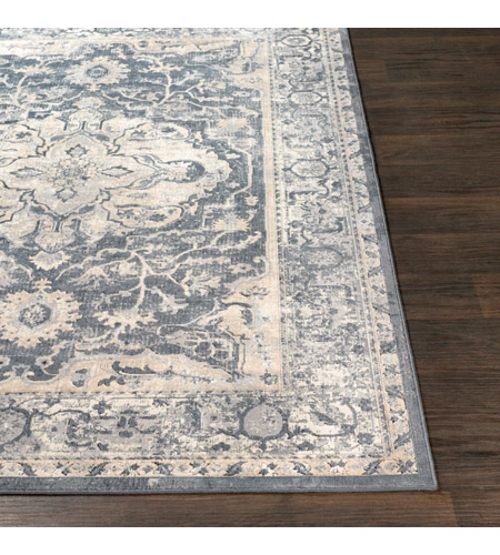 41ELIZABETH 51844-MG Ademaro 35 X 24 inch Medium Gray/Charcoal/Taupe/White/Black Rugs, Rectangle dur1013-front.jpg