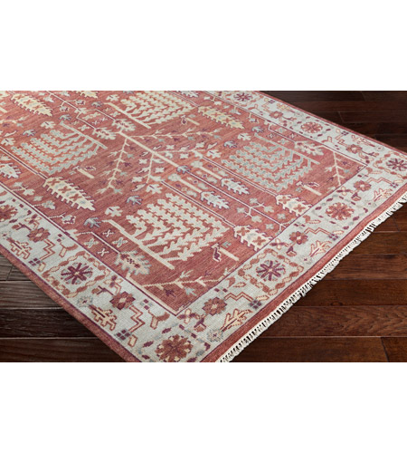 41ELIZABETH 52340-CF Ace 156 X 108 inch Clay/Burgundy/Khaki/Sea Foam/Butter/Tan Rugs, Wool exi1005_corner.jpg