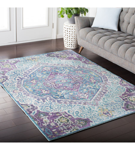 41ELIZABETH 52495-BP Ayland 94 X 34 inch Bright Purple/Pale Blue/Teal/Lime/Dark Green/Camel Rugs, Polyester ger2304-roomscene_201.jpg