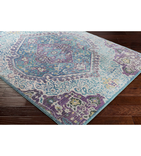 41ELIZABETH 52495-BP Ayland 94 X 34 inch Bright Purple/Pale Blue/Teal/Lime/Dark Green/Camel Rugs, Polyester ger2304_corner.jpg
