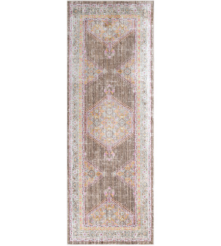 41ELIZABETH 52528-BP Ayland 34 X 24 inch Bright Pink/Dark Brown/Taupe/Bright Yellow Rugs, Polyester