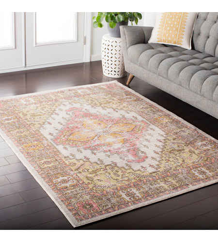 41ELIZABETH 52561-CY Ayland 151 X 108 inch Coral/Beige/Bright Yellow/Camel/Dark Brown Rugs, Rectangle ger2323-roomscene_201.jpg