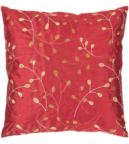 41ELIZABETH 56428-BR Auburn 18 X 18 inch Bright Red/Camel/Cream/Mustard Pillow Kit