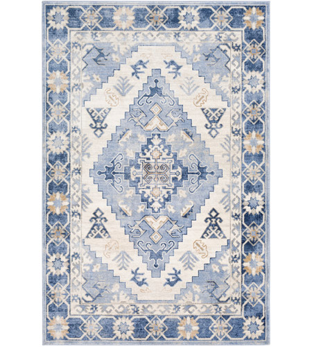 41ELIZABETH 53620-NB Alton 87 X 63 inch Navy/Bright Blue/Medium Gray/Tan/Charcoal/Beige Rugs