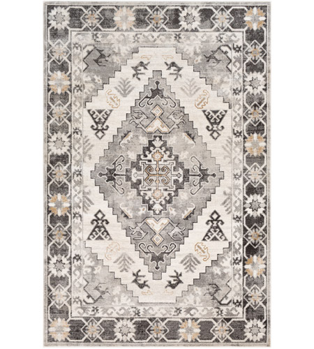 41ELIZABETH 53625-CG Alton 87 X 63 inch Charcoal/Medium Gray/Black/Tan/Beige/White Rugs