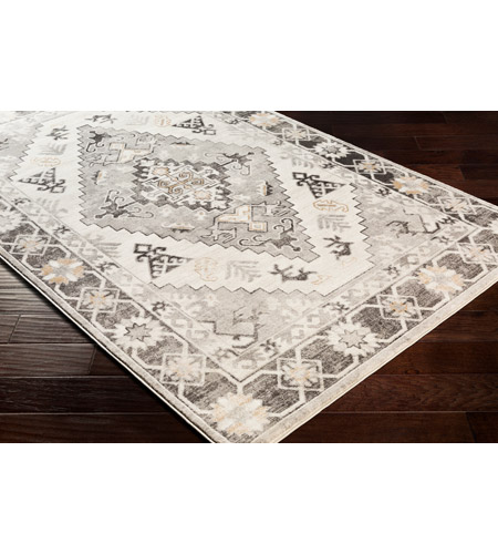 41ELIZABETH 53625-CG Alton 87 X 63 inch Charcoal/Medium Gray/Black/Tan/Beige/White Rugs igo2311_corner.jpg