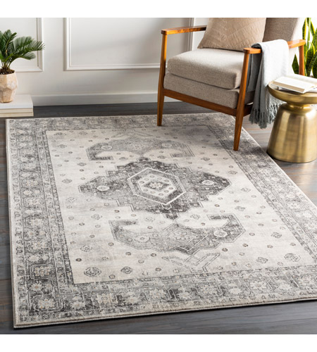 41ELIZABETH 53679-CG Alton 67 X 51 inch Charcoal/Medium Gray/Black/Tan/Beige/White Rugs igo2322-roomscene_201.jpg