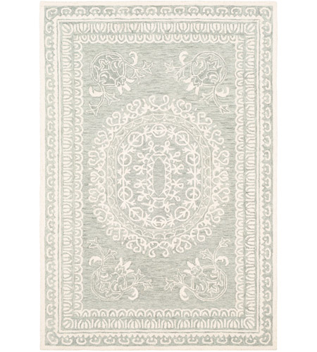 41ELIZABETH 55181-SF Alvina 90 X 60 inch Sea Foam/Sage/Cream Rugs