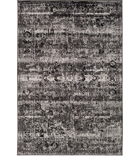 41ELIZABETH 55421-CG Adora 93 X 63 inch Charcoal/Black/Medium Gray Rugs, Polypropylene