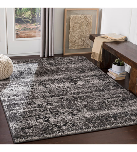 41ELIZABETH 55421-CG Adora 93 X 63 inch Charcoal/Black/Medium Gray Rugs, Polypropylene par1060-roomscene_201.jpg