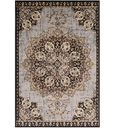 41ELIZABETH 55487-MG Adora 93 X 63 inch Medium Gray/Black/Charcoal/Dark Brown/Khaki/Beige Rugs, Rectangle