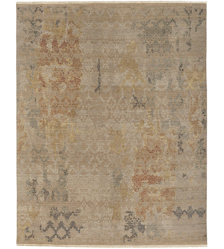 41ELIZABETH 42226-NB Arden 108 X 72 inch Neutral and Brown Area Rug, Wool and Silk